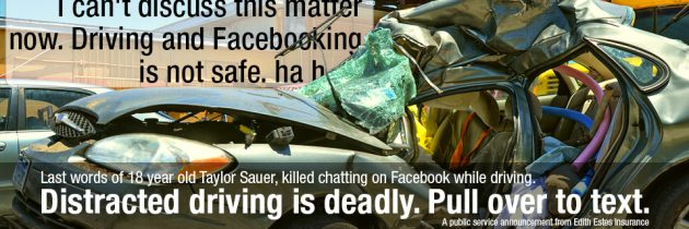 Don't chat while driving.